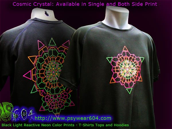 f67655a11f2c Cosmic crystal psychedelic clothing, t-shirts and hoodies with black-light  reactive neon. For Men