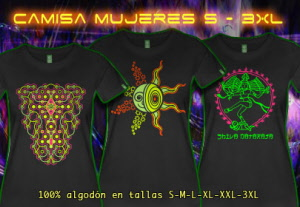 womens premium S to 5XL t-shirts with black light neon colors
