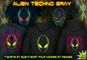 Alien Gray Techno: Tee-shirts et sweat-shirts