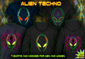 Alien Techno: t-shirts jackets and hoodies