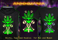 Ankhmania T-Shirts Hooded Jackets and Hoodies with a blacklight re-active neon color