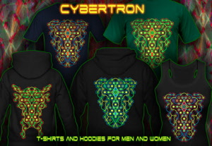 Cybertron Maze: uv-black-licht re-active neon color print