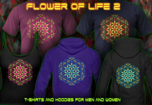 flower of Life [2] T-Shirts and Hoodies for men and women