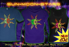 Taiyō Mūnsutā: T-Shirts Hooded Jackets and Hoodies with a blacklight re-active neon color print