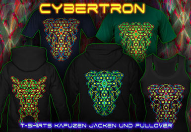 Cybertron Maze T-Shirts und Kapuzenpullover mit Schwarzlicht Neon Farben Druck