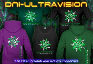 DNI-Ultravision T-Shirts und Kapuzenpullover mit Schwarzlicht Neon Farbdruck