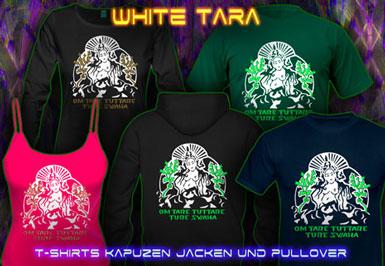 Tara Samaya T-Shirts und Kapuzenpullover mit Schwarzlicht Neon Farbdruck