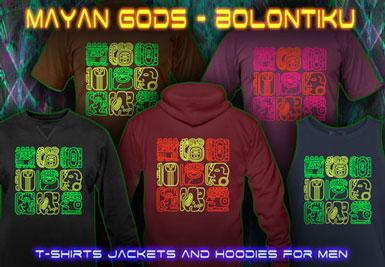 Bolontiku Tiki T-shirts et vestes à capuches avec une lumière noire réactive impression couleur de néon