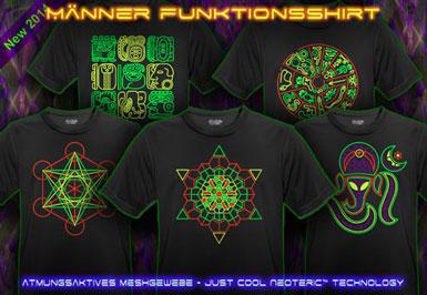 psywear604 Atmungsaktive Leuchtfarben T-Shirts für Männer