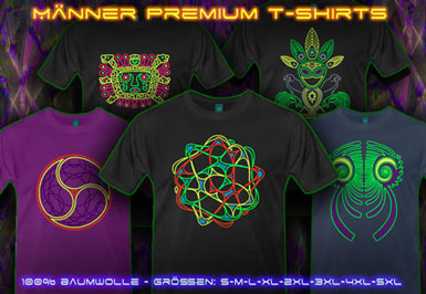 psywear604 Ubergrossen Psytrance T-Shirts für Männer