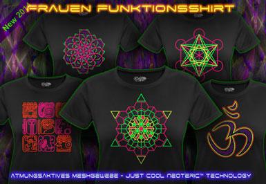 psywear604 Atmungsaktive Leuchtfarben T-Shirts für Frauen
