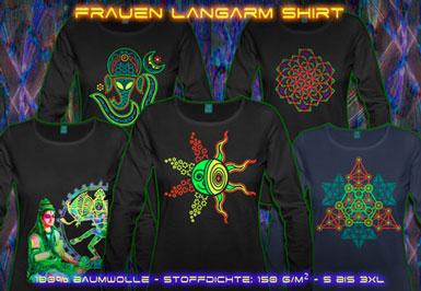 psywear604 Langarm T-Shirt für Damen