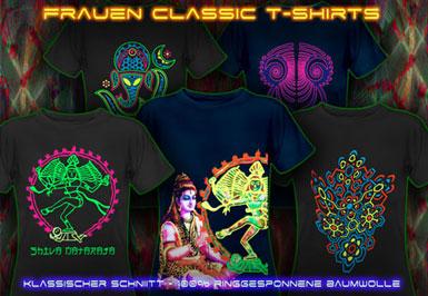 Goa Kleider | psywear604 Klassische t-shirts für Frauen