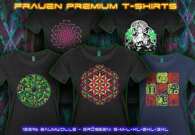 Psytrance Kleider | S bis 3XL T-Shirts für Damen
