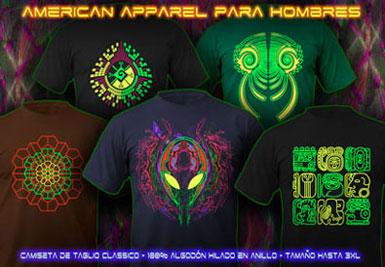 psywear604 Camiseta Goa de American Apparel para Hombres