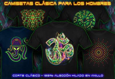 psywear604 Camisetas ropa psicodélico | de corte Clásico para Hombres