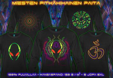 psywear604 pitkähihainen t-paita miehille