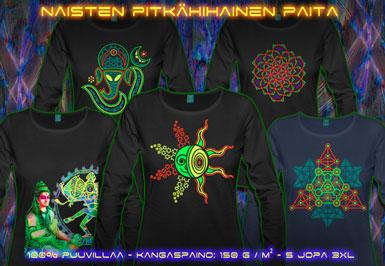 psywear604 pitkähihainen t-paita naisille