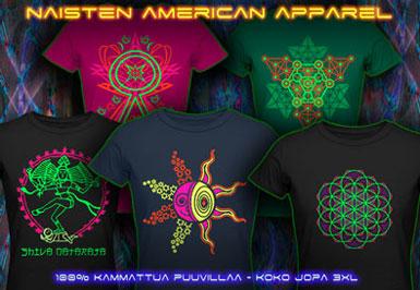 psywear604 t-paita american apparel naisille