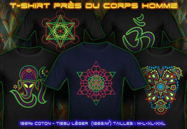 psywear604 Tee Shirts Prés du Corps pour Hommes