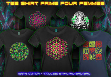 Psywear604 Chemise Goa | XL Tee shirts pour femme