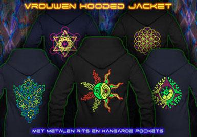 psywear604 hooded jackets voor vrouwen