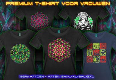 psywear604 psychedlische t-shirts voor vrouwen