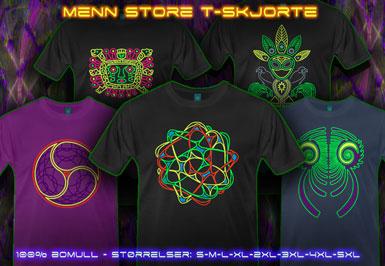 psywear604 menn over dimensjonerte t-skjorte