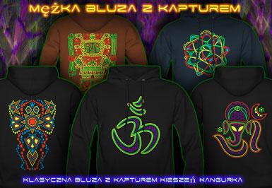psywear604 Bluza z Kapturem dla Mężczyźni