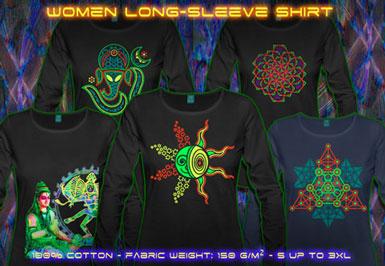 psywear604 long sleeve t-shirt for women