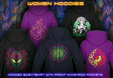 psywear604 psytrance clothing | hooded sweatshirt for women