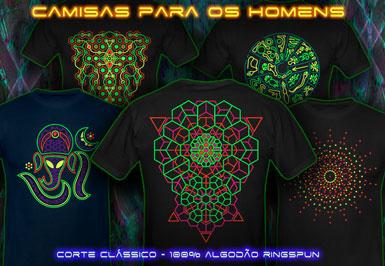 psywear 604 camisetas clássicos para homens