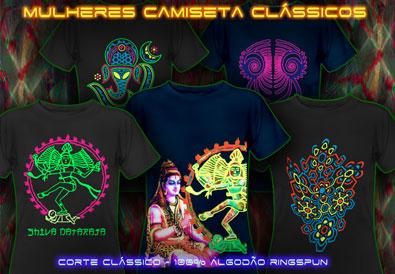 psywear 604 camisetas clássicos para mulheres