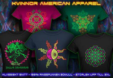 psywear604 Kvinnor T-Shirt American Apparel